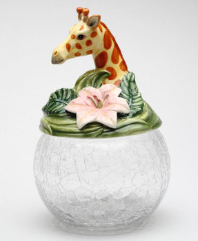 Giraffe Glass Cookie Jar