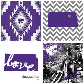 Kansas State Wildcats Spirit Beverage Coasters, Set of 8