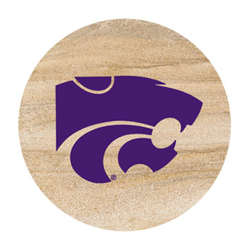 Kansas State Wildcats Sandstone Beverage Coasters, Set of 8