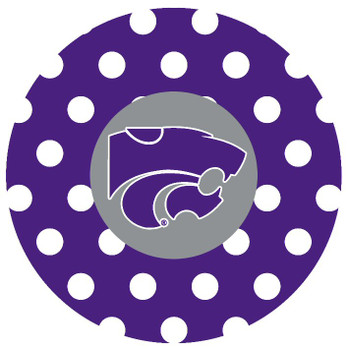 Kansas State Wildcats Dots Absorbent Beverage Coasters, Set of 8
