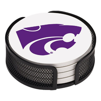 Kansas State Wildcats Beverage Coasters with Mesh Holders, Set of 10