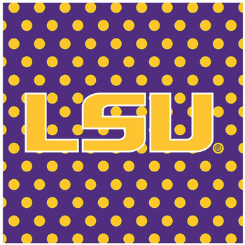 Louisiana State University Tigers Dots Ceramic Trivets, Set of 2