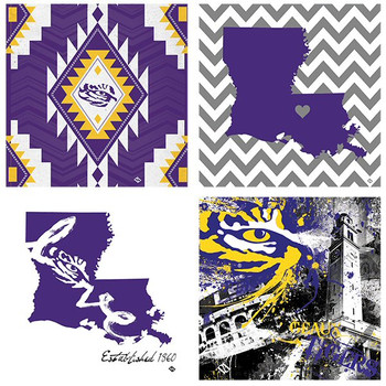 Louisiana State Tigers Spirit Beverage Coasters, Set of 8