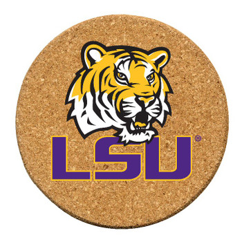 Louisiana State Tigers Cork Beverage Coasters, Set of 12