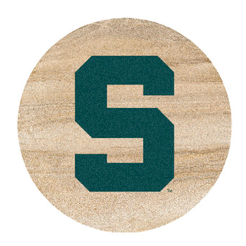 Michigan State Spartans Sandstone Beverage Coasters, Set of 8