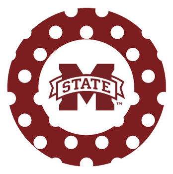 Mississippi State Bulldogs Dots Absorbent Beverage Coasters, Set of 8