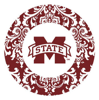 Mississippi State Bulldogs Pattern Beverage Coasters, Set of 8