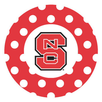 North Carolina State Wolfpack Dots Beverage Coasters, Set of 8