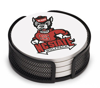 North Carolina State Wolfpack Coasters w/Mesh Holders, Set of 10