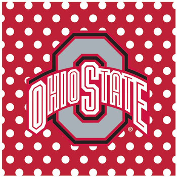 Ohio State University Buckeyes Dots Ceramic Trivets, Set of 2