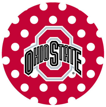 Ohio State Buckeyes Dots Absorbent Beverage Coasters, Set of 8