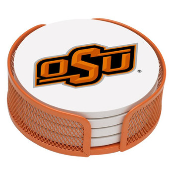 Oklahoma State Cowboys Beverage Coasters w/Mesh Holders, Set of 10