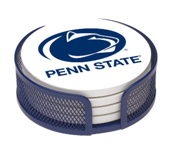 Penn State Nittany Lions Beverage Coasters w/Mesh Holders, Set of 10