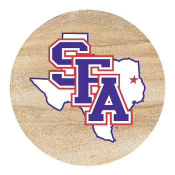 Stephen F. Austin Lumberjacks Sandstone Beverage Coasters, Set of 8