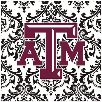 Texas A&M University Aggies Pattern Ceramic Trivets, Set of 2