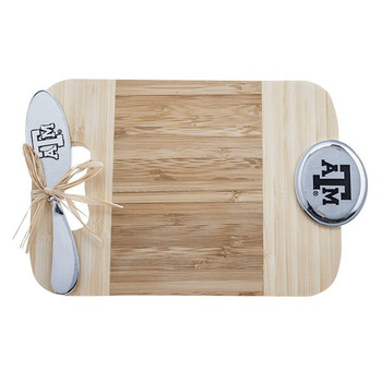 Texas A&M University Aggies Bamboo Mini Serving Board and Spreader