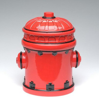 Fire Post Ceramic Cookie Jar