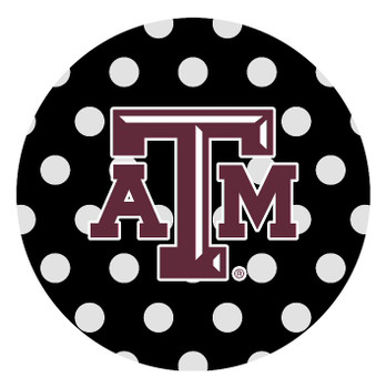 Texas A&M Aggies Dots Absorbent Beverage Coasters, Set of 8