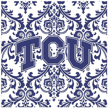 Texas Christian University Horned Frogs Pattern Trivets, Set of 2