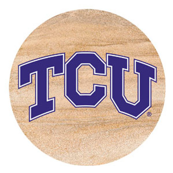 Texas Christian Horned Frogs Sandstone Beverage Coasters, Set of 8