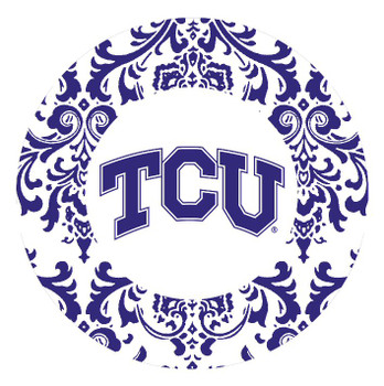 Texas Christian Horned Frogs Pattern Beverage Coasters, Set of 8