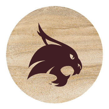 Texas State Bobcats Sandstone Beverage Coasters, Set of 8