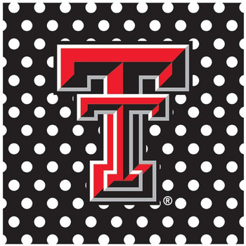 Texas Tech University Red Raiders Dots Ceramic Trivets, Set of 2
