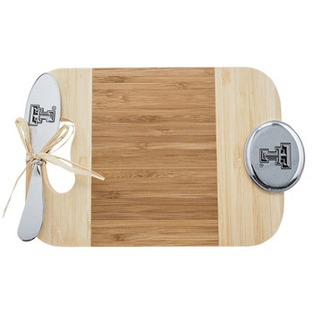 Texas Tech University Red Raiders Bamboo Mini Serving Board & Spreader