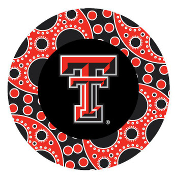 Texas Tech Red Raiders Circles Absorbent Beverage Coasters, Set of 8
