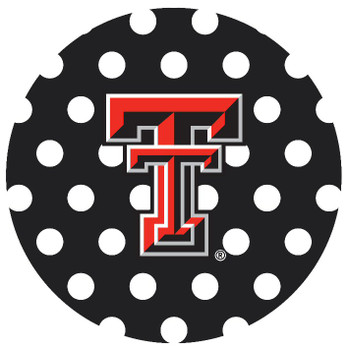 Texas Tech Red Raiders Dots Absorbent Beverage Coasters, Set of 8
