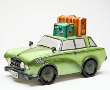 Car Ceramic Cookie Jar