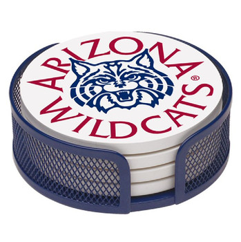 Arizona Wildcats Beverage Coasters with Mesh Holders, Set of 10