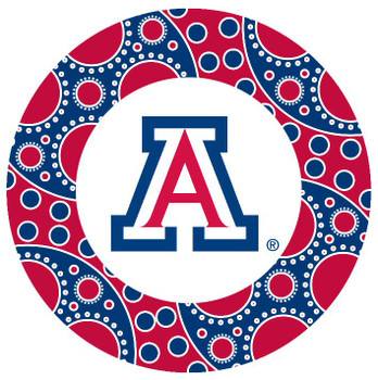 Arizona Wildcats Circles Absorbent Beverage Coasters, Set of 8