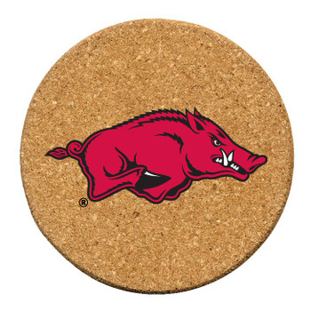 Arkansas Razorbacks Cork Beverage Coasters, Set of 12