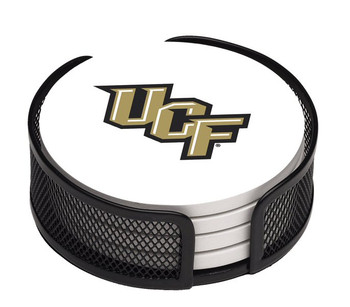 Central Florida Knights Beverage Coasters with Holders, Set of 10