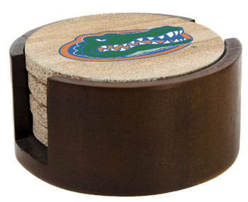 Florida Gators Sandstone Coasters with Holders, Set of 10