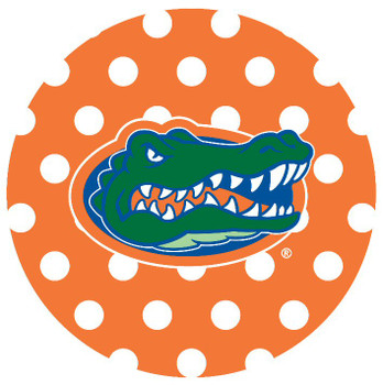 Florida Gators Dots Absorbent Beverage Coasters, Set of 8