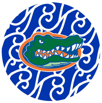 Florida Gators Swirls Absorbent Beverage Coasters, Set of 8