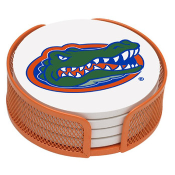 Florida Gators Beverage Coasters with Mesh Holders, Set of 10