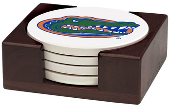 Florida Gators Beverage Coasters with Holders, Set of 10