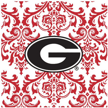 University of Georgia Bulldogs Pattern Ceramic Trivets, Set of 2
