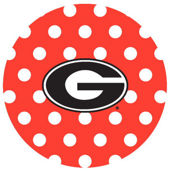 Georgia Bulldogs Dots Absorbent Beverage Coasters, Set of 8
