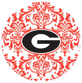 Georgia Bulldogs Pattern Absorbent Beverage Coasters, Set of 8