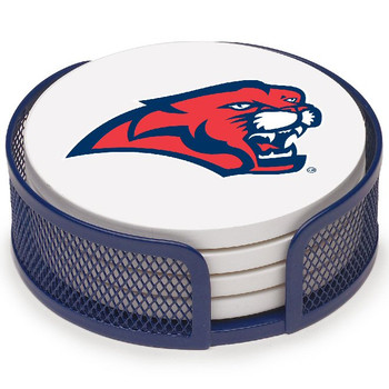 Houston Cougars Beverage Coasters with Mesh Holders, Set of 10