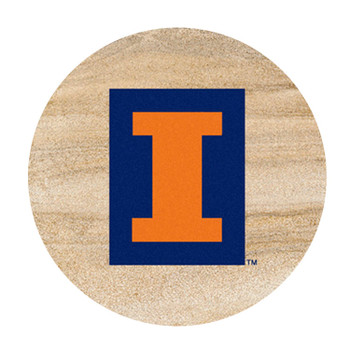 Illinois Fighting Illini Sandstone Beverage Coasters, Set of 8