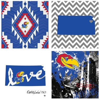 Kansas Jayhawks Spirit Beverage Coasters, Set of 8