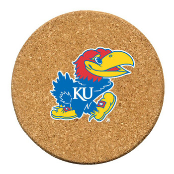 Kansas Jayhawks Cork Beverage Coasters, Set of 12