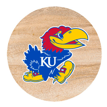 Kansas Jayhawks Sandstone Beverage Coasters, Set of 8