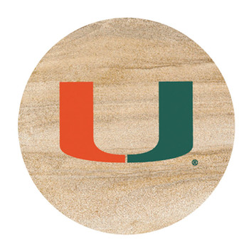 Miami Hurricanes Sandstone Beverage Coasters, Set of 8