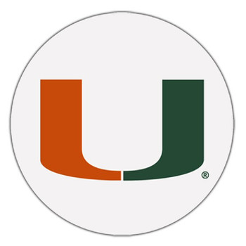 Miami Hurricanes Absorbent Beverage Coasters, Set of 8